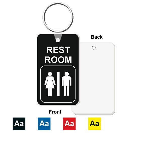 Restroom Bathroom Key Tag Engraved Mini 1 3 4 Inch X 3
