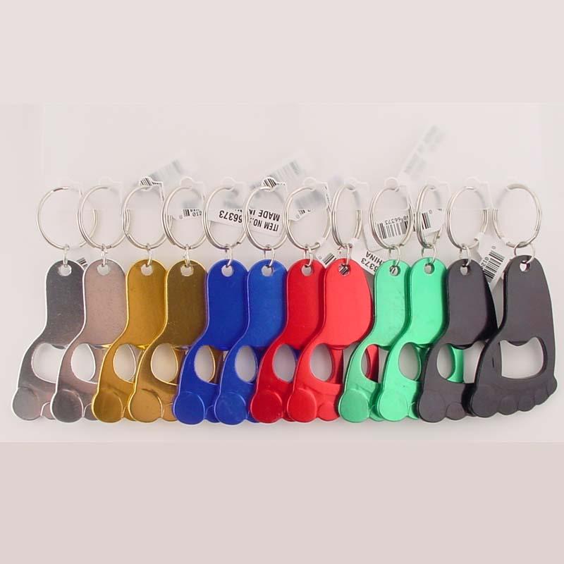 bulk pack bottle opener keychain barefoot foot shape. Black Bedroom Furniture Sets. Home Design Ideas
