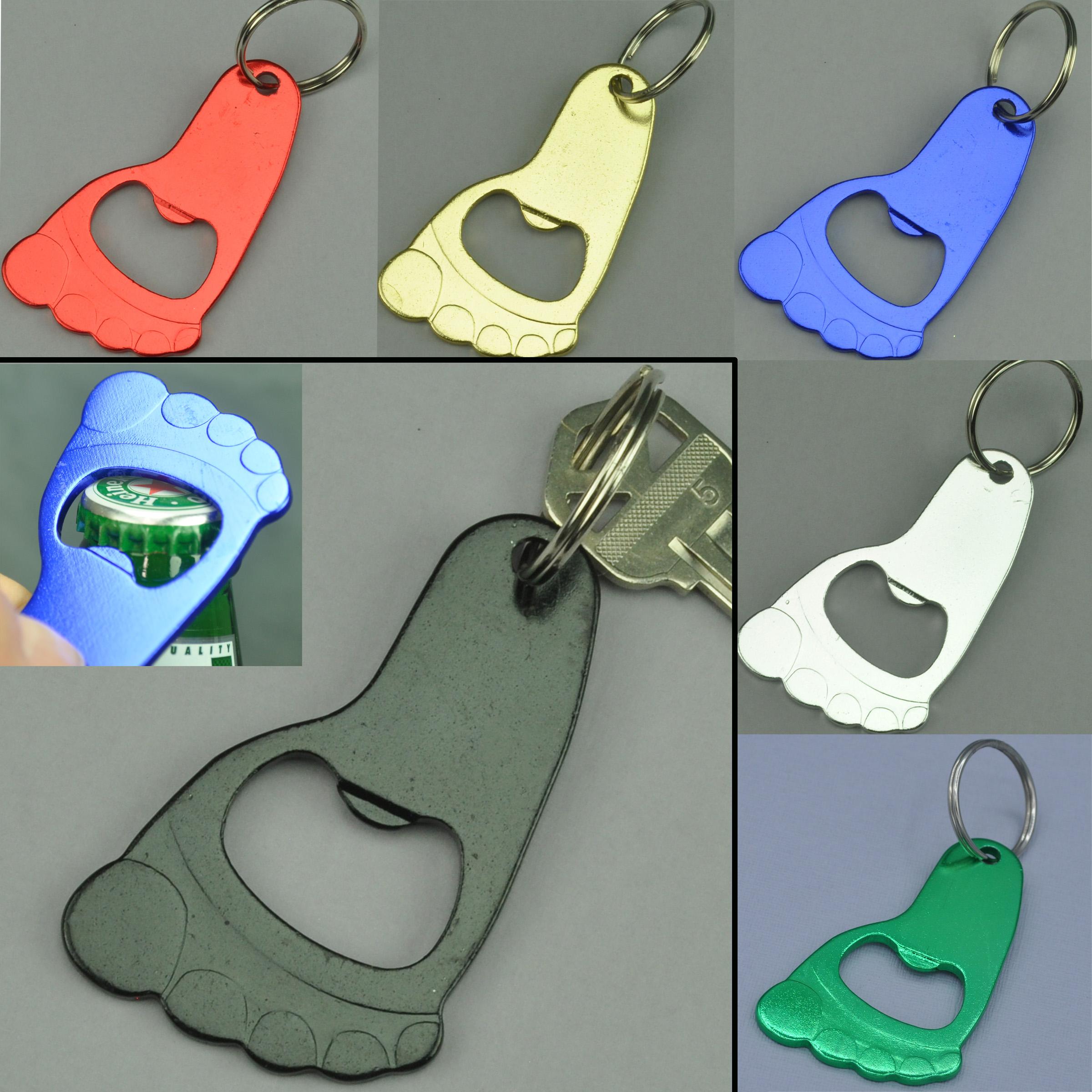 bottle opener keychain barefoot foot shape. Black Bedroom Furniture Sets. Home Design Ideas