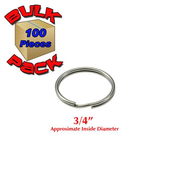 2 Inch Heavyduty D-Rings 100 Pieces, Nickel