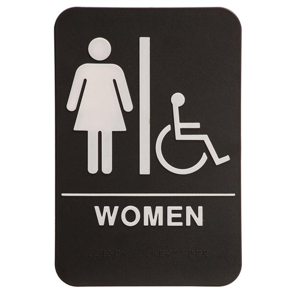 6 Inch X 9 Inch Ada Sign Womens Room With Handicap Symbol